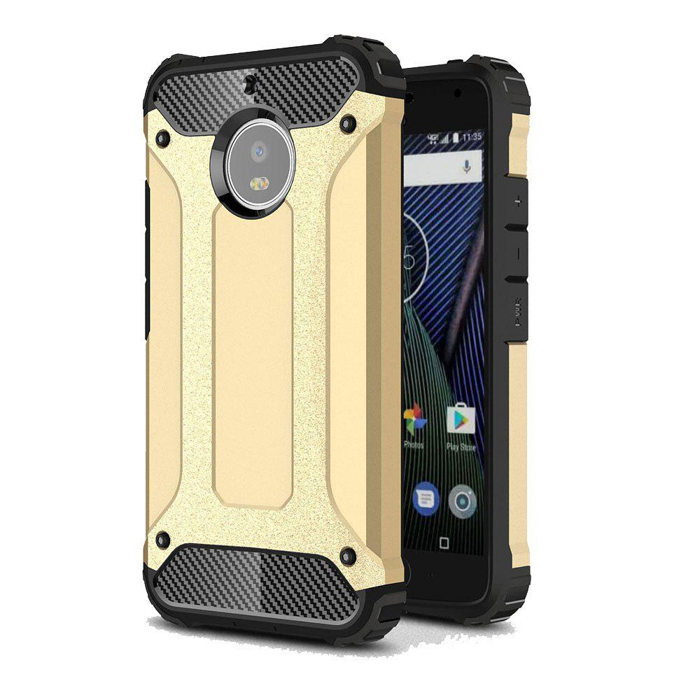 Hockproof Protective Cover for Motorola Moto G5S Armor Hard Mobile Phone Cases - GOLDEN
