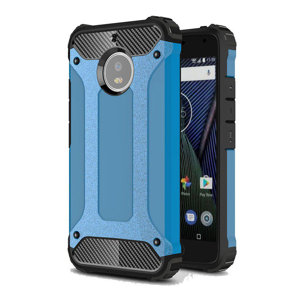 Hockproof Protective Cover for Motorola Moto G5S Armor Hard Mobile Phone Cases - BLUE