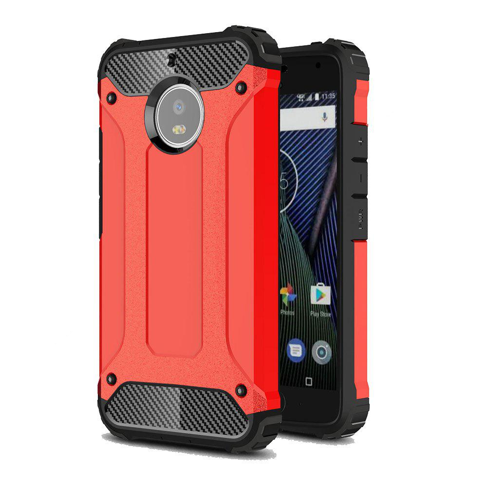 Hockproof Protective Cover for Motorola Moto G5S Armor Hard Mobile Phone Cases - RED
