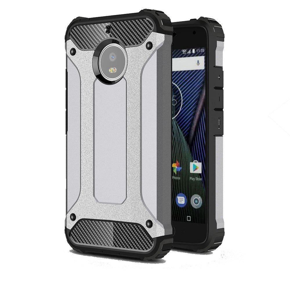 Hockproof Protective Cover for Motorola Moto G5S Armor Hard Mobile Phone Cases - GRAY