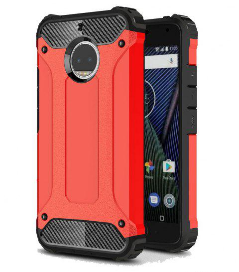 Hockproof Protective Cover for Motorola Moto G5S Plus Armor Hard Mobile Phone Cases - RED