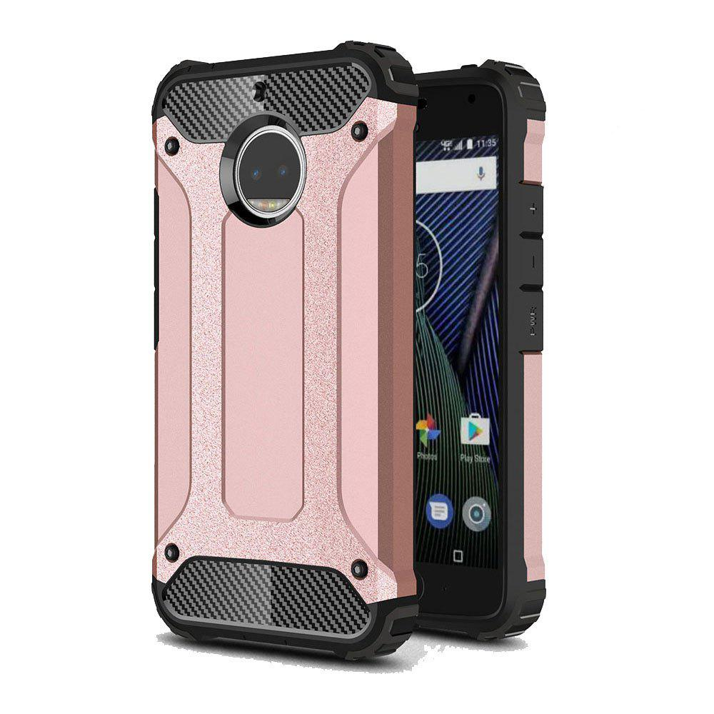 Hockproof Protective Cover for Motorola Moto G5S Plus Armor Hard Mobile Phone Cases - ROSE GOLD