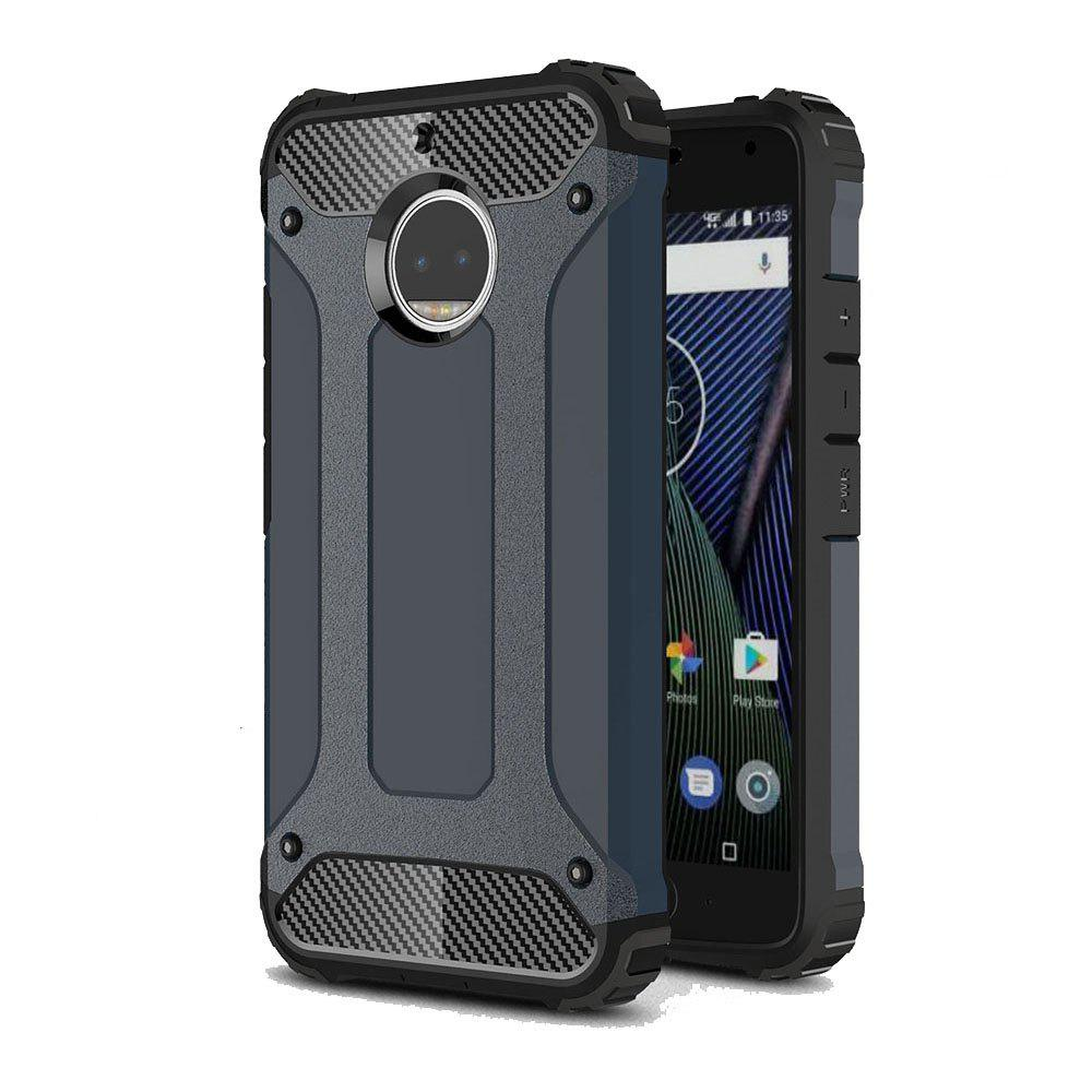Hockproof Protective Cover for Motorola Moto G5S Plus Armor Hard Mobile Phone Cases - NAVY