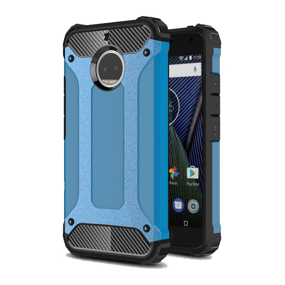 Hockproof Protective Cover for Motorola Moto G5S Plus Armor Hard Mobile Phone Cases - BLUE