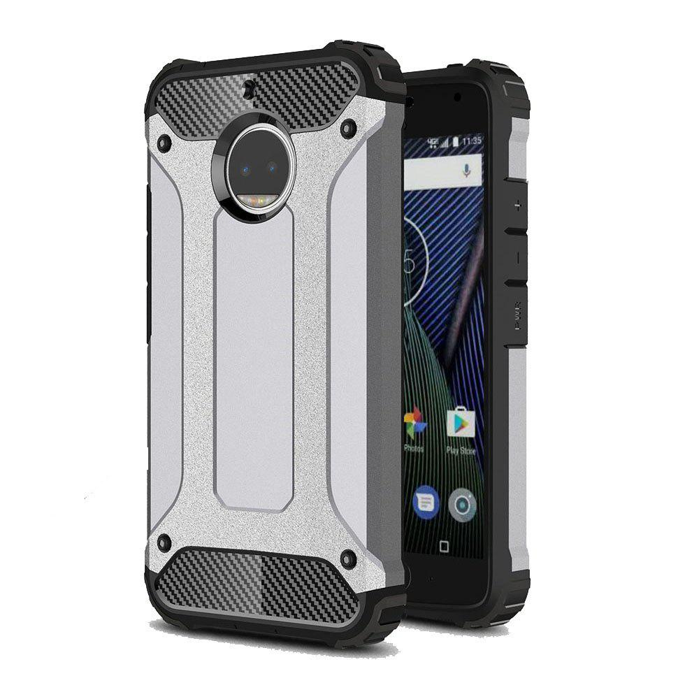 Hockproof Protective Cover for Motorola Moto G5S Plus Armor Hard Mobile Phone Cases - GRAY