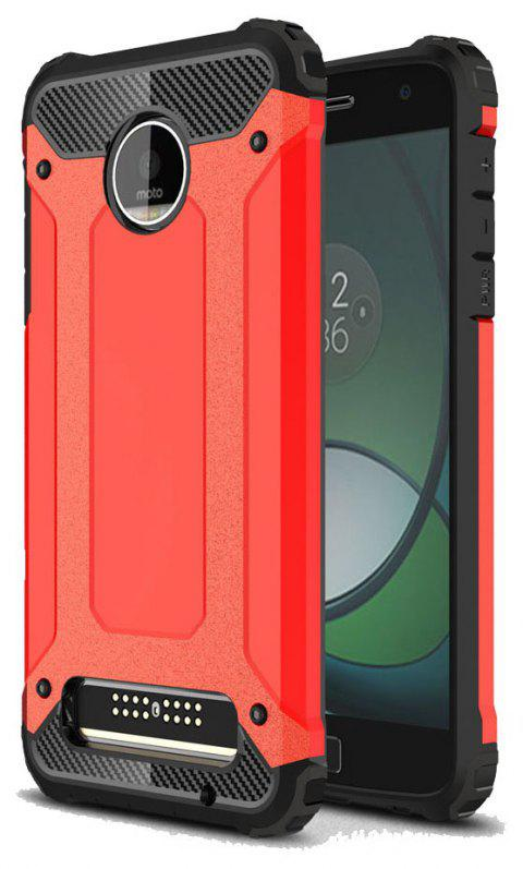 Hockproof Protective Cover for Motorola Moto Z Play Armor Hard Mobile Phone Cases - RED