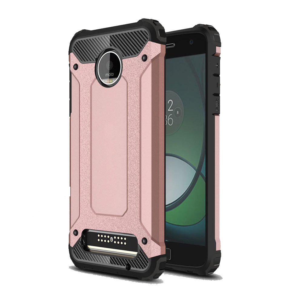 Hockproof Protective Cover for Motorola Moto Z Play Armor Hard Mobile Phone Cases - ROSE GOLD