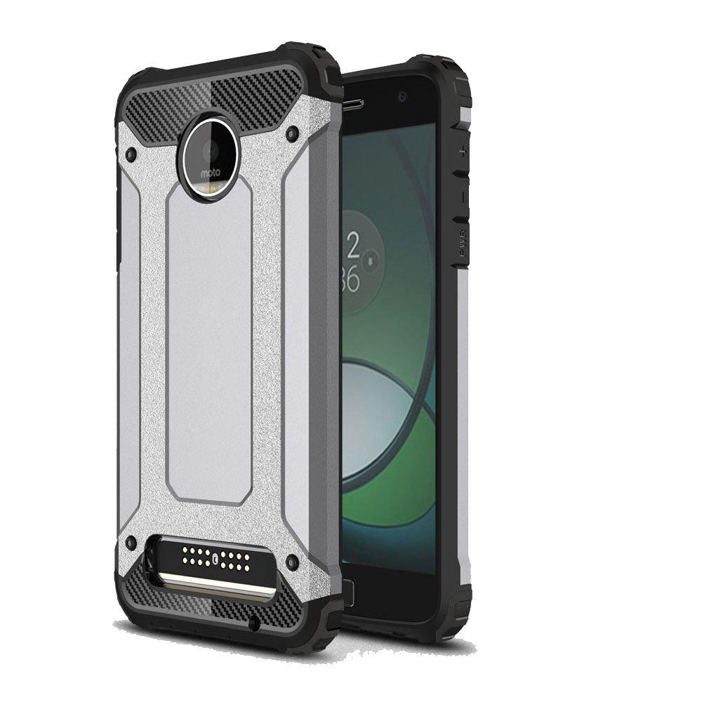 Hockproof Protective Cover for Motorola Moto Z Play Armor Hard Mobile Phone Cases - GRAY