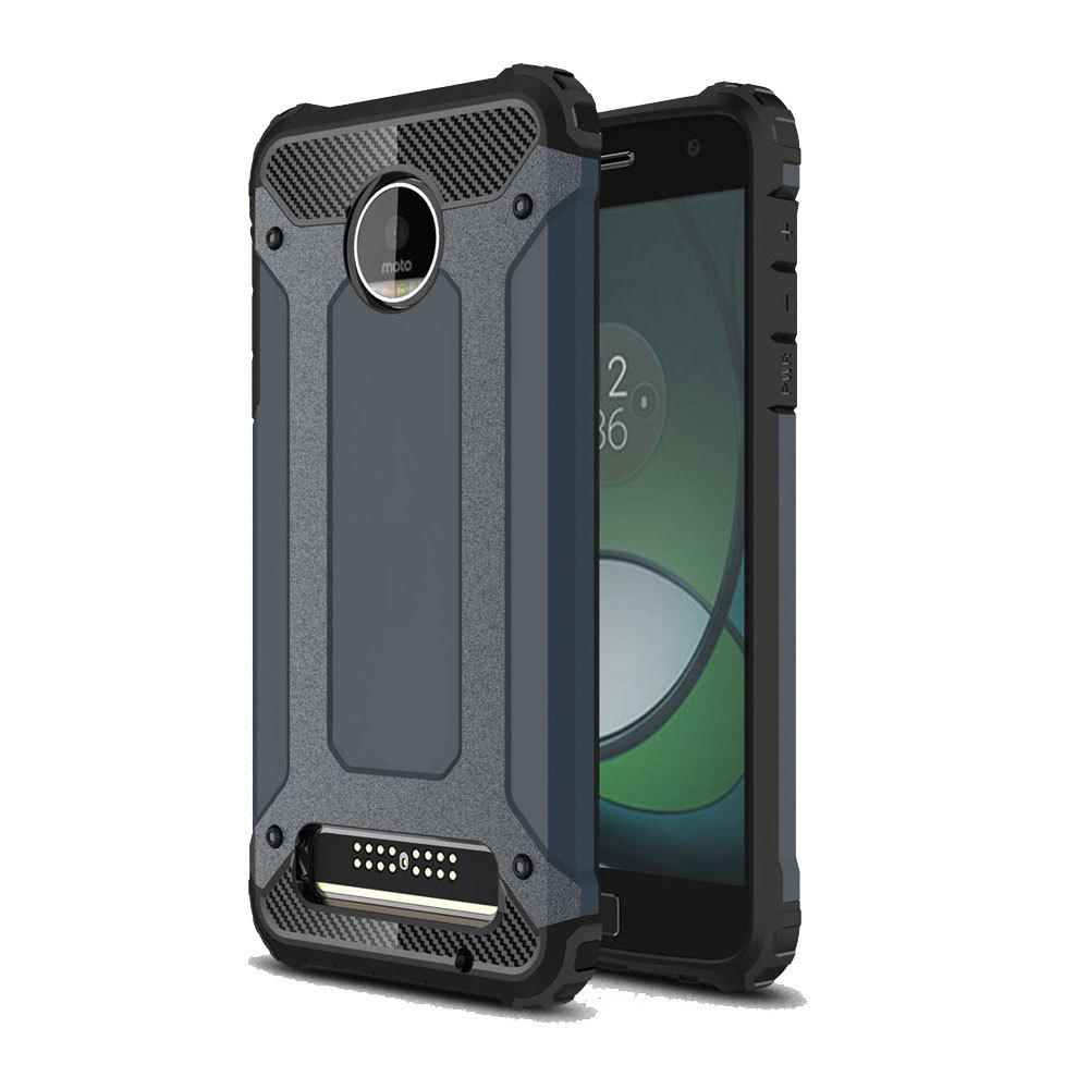 Hockproof Protective Cover for Motorola Moto Z Play Armor Hard Mobile Phone Cases - NAVY