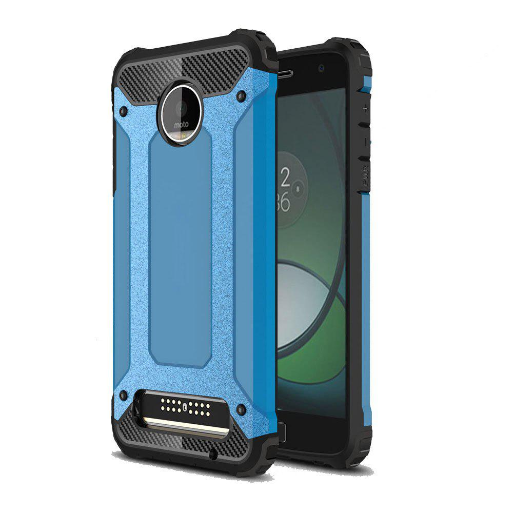 Hockproof Protective Cover for Motorola Moto Z Play Armor Hard Mobile Phone Cases - BLUE
