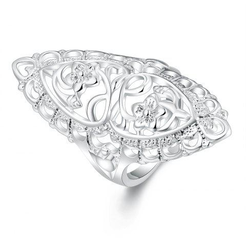 Fashion Creative Elegant Hollow Out Ring Charm Jewelry - SILVER 8