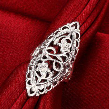 Fashion Creative Elegant Hollow Out Ring Charm Jewelry - SILVER 6