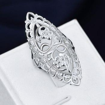 Fashion Creative Elegant Hollow Out Ring Charm Jewelry - SILVER 7