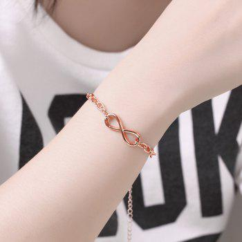 Classic Adjustable Alloy Chain Bracelet Charm Jewelry Gift for Women - ROSE GOLD