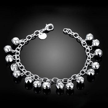 Adjustable Bell Pendant Chain Bracelet Charm Jewelry Gift for Women - SILVER