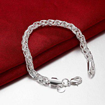 Korean Style Alloy Chain Bracelet Charm Jewelry Gift for Women - SILVER