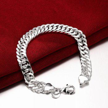 Classic Alloy Chain Bracelet Charm Jewelry for Men - SILVER