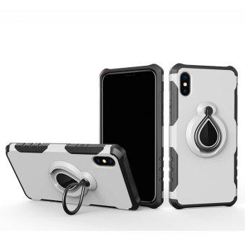Creative for iPhone X Car Bracket Mobile Phone Raindrops Ring Protection Sleeve - WHITE