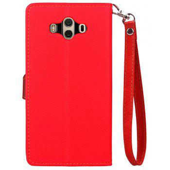 Leaf Luxury Leather Wallet Stand Flip Cover Case for Huawei Mate 10 - RED