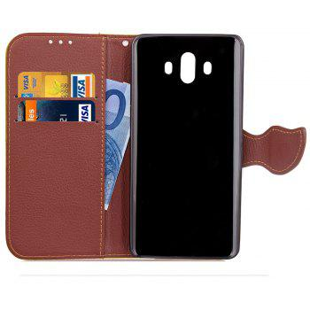 Leaf Luxury Leather Wallet Stand Flip Cover Case for Huawei Mate 10 - ROSE RED