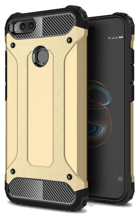 Hockproof Protective Cover for Xiaomi 5X / A1 Armor Hard Mobile Phone Cases - GOLDEN