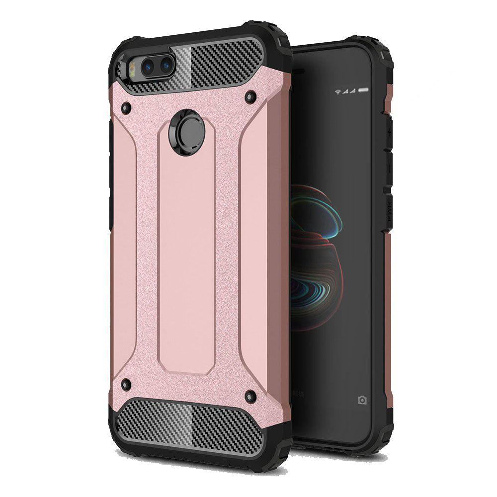 Hockproof Protective Cover for Xiaomi 5X / A1 Armor Hard Mobile Phone Cases - ROSE GOLD
