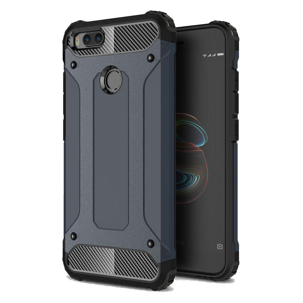Hockproof Protective Cover for Xiaomi 5X / A1 Armor Hard Mobile Phone Cases - NAVY