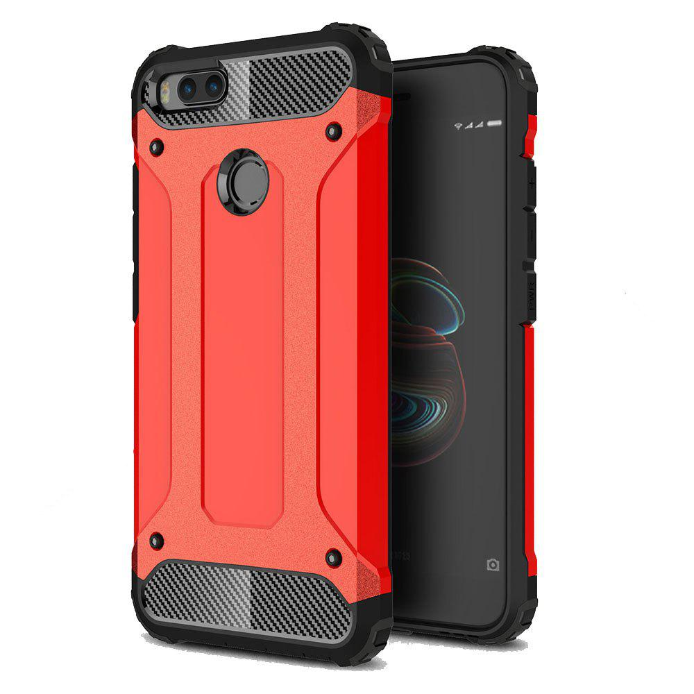 Hockproof Protective Cover for Xiaomi 5X / A1 Armor Hard Mobile Phone Cases - RED