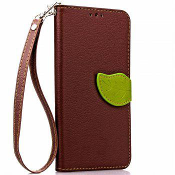 Leaf Luxury Leather Wallet Stand Flip Cover Case for iPhone 7 Plus / 8 Plus - BROWN