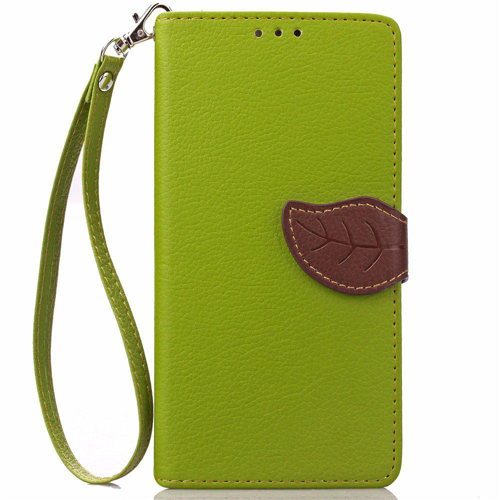 Leaf Luxury Leather Wallet Stand Flip Cover Case for iPhone 7 Plus / 8 Plus - GREEN