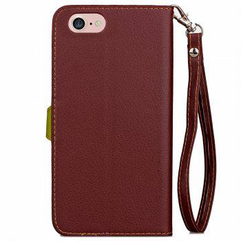 Leaf Luxury Leather Wallet Stand Flip Cover Case for iPhone 7 / 8 - BROWN