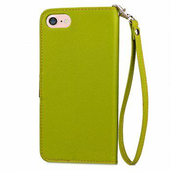 Leaf Luxury Leather Wallet Stand Flip Cover Case for iPhone 7 / 8 - GREEN