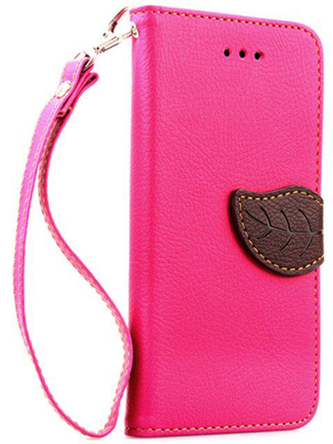 Leaf Luxury Leather Wallet Stand Flip Cover Case for iPhone 6 Plus / 6s Plus - ROSE RED