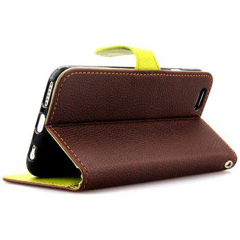 Leaf Luxury Leather Wallet Stand Flip Cover Case for iPhone 6 Plus / 6s Plus - BROWN