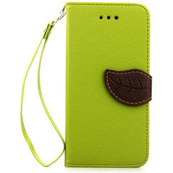 Leaf Luxury Leather Wallet Stand Flip Cover Case for iPhone 6 Plus / 6s Plus - GREEN