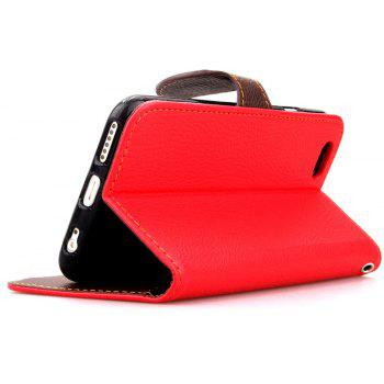 Leaf Luxury Leather Wallet Stand Flip Cover Case for iPhone 6 / 6s - RED