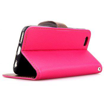 Leaf Luxury Leather Wallet Stand Flip Cover Case for iPhone 6 / 6s - ROSE RED