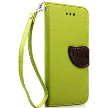 Leaf Luxury Leather Wallet Stand Flip Cover Case for iPhone 6 / 6s - GREEN