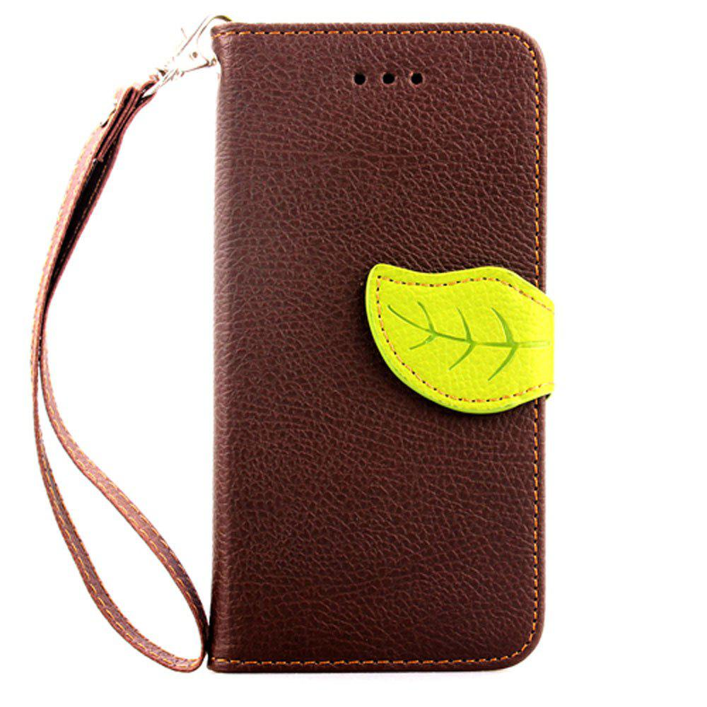 Leaf Luxury Leather Wallet Stand Flip Cover Case for iPhone 6 / 6s - BROWN