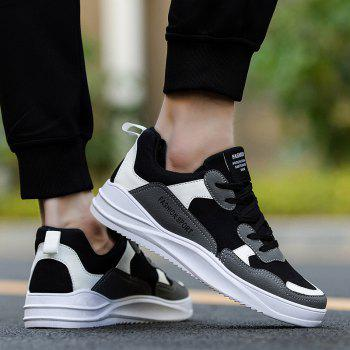 2018 Spring Men Fashion Breathable Sports Shoes - BLACK/GRAY 44