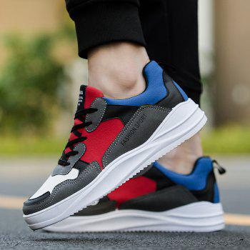 2018 Spring Men Fashion Breathable Sports Shoes - RED/GRAY 42