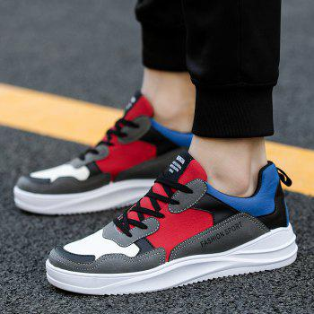 2018 Spring Men Fashion Breathable Sports Shoes - RED/GRAY 40