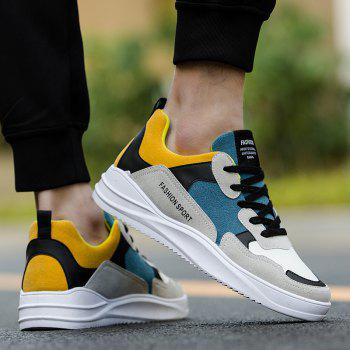 2018 Spring Men Fashion Breathable Sports Shoes - BLUE/WHITE 43