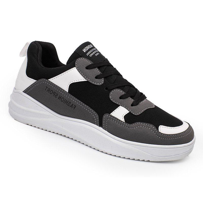 2018 Spring Men Fashion Breathable Sports Shoes - BLACK/GRAY 40