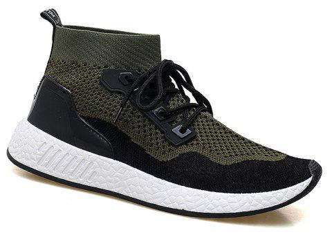 2018 Summer New Arrival High Vamp Sports Shoes - GREEN 41