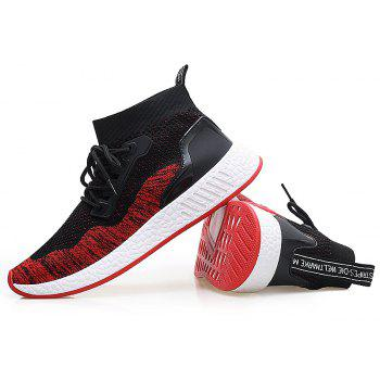 2018 Summer New Arrival High Vamp Sports Shoes - BLACK/RED 44