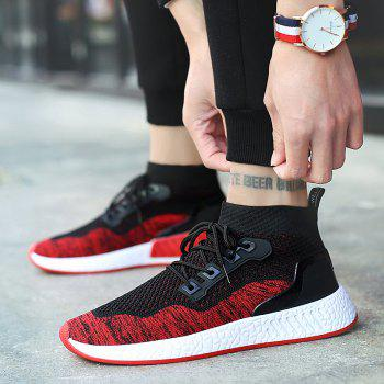 2018 Summer New Arrival High Vamp Sports Shoes - BLACK/RED 39