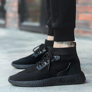 2018 Summer New Arrival High Vamp Sports Shoes - BLACK 41