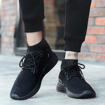 2018 Summer New Arrival High Vamp Sports Shoes - BLACK 39