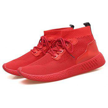 2018 Summer New Arrival High Vamp Sports Shoes - RED 41